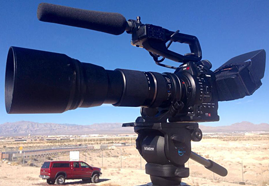nearly 1000mm (full frame equivalent) filming at Las Vegas Airshow